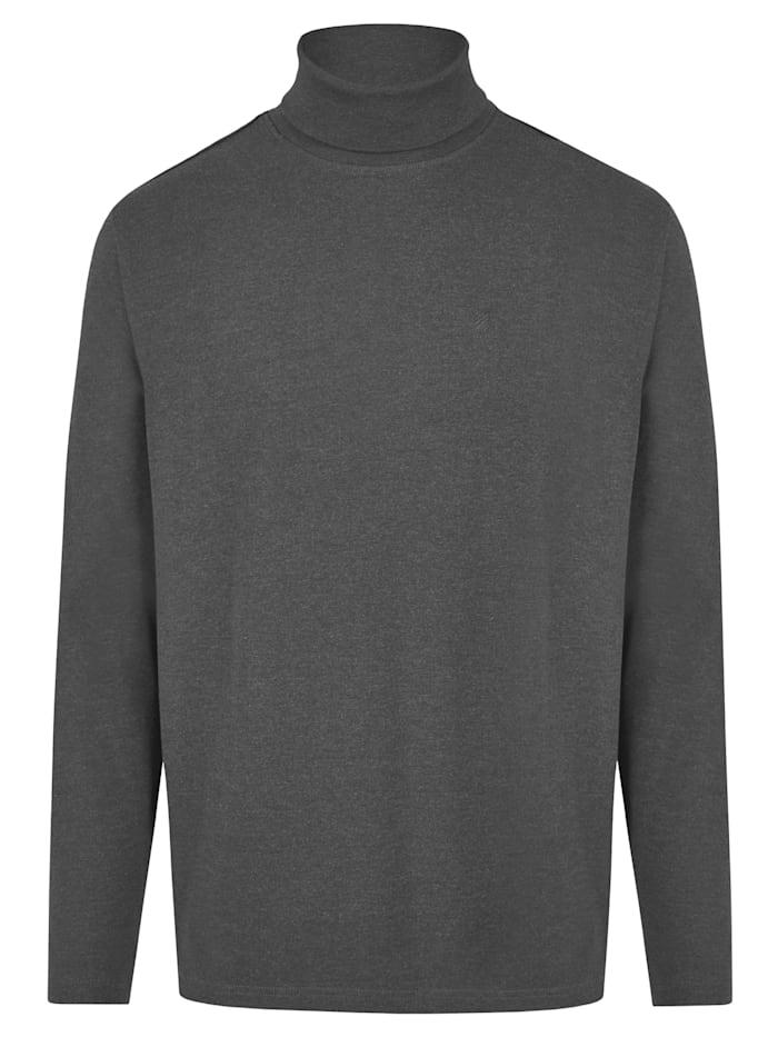 Daniel Hechter Essential Rollkragen-Shirt, graphite