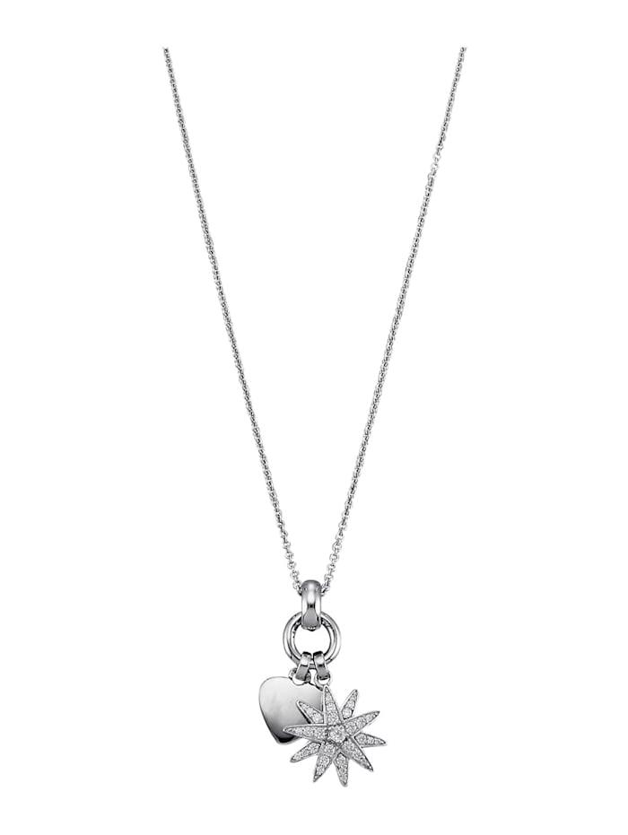 """Atelier Imperial Sisi Hopeinen zirkoniariipus """"Kuningatar Sissin tähti"""" ja kaulaketju, Hopeanvärinen"""
