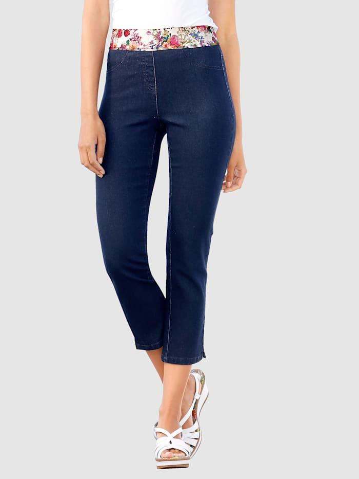 Laura Kent 7/8 Jeans Lotta mit dekorativem Gummibund, Blau