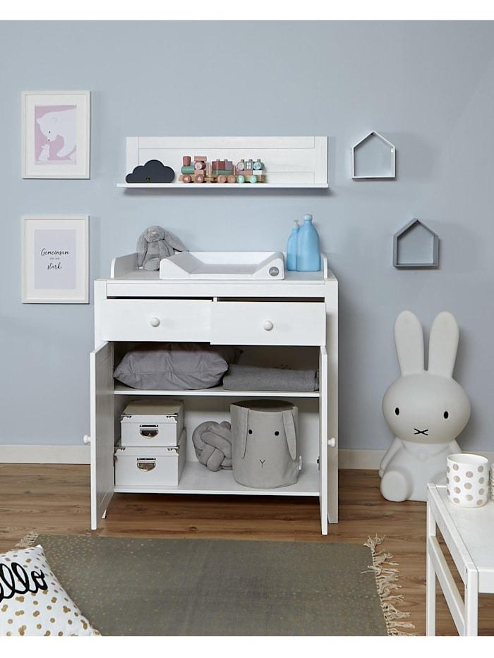 Babyzimmer Rosa 4-teilig Massivholz Weiß gewachst