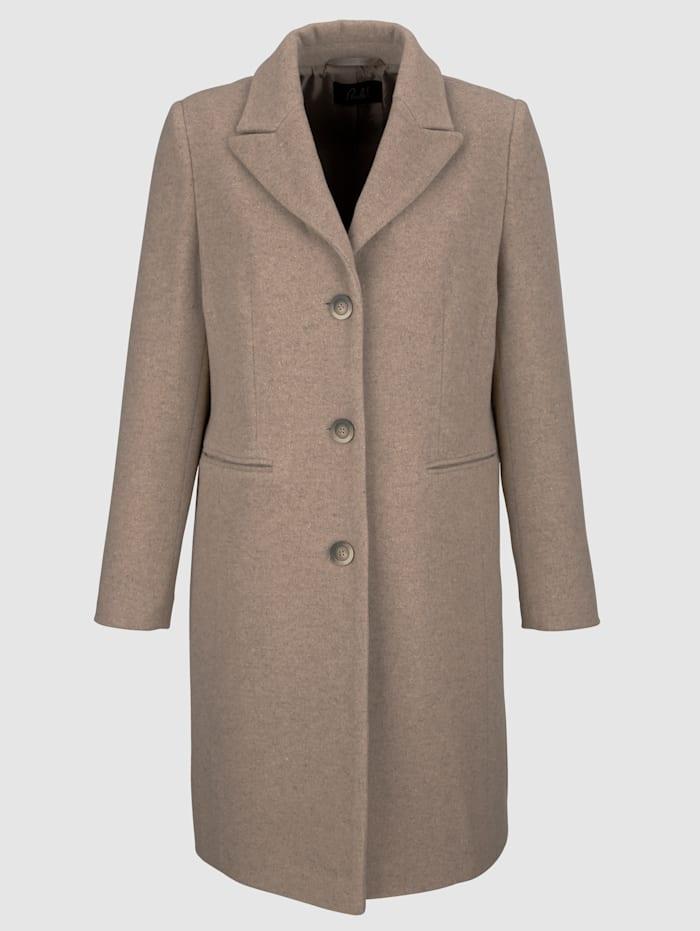 Mantel met gerecyclede wol