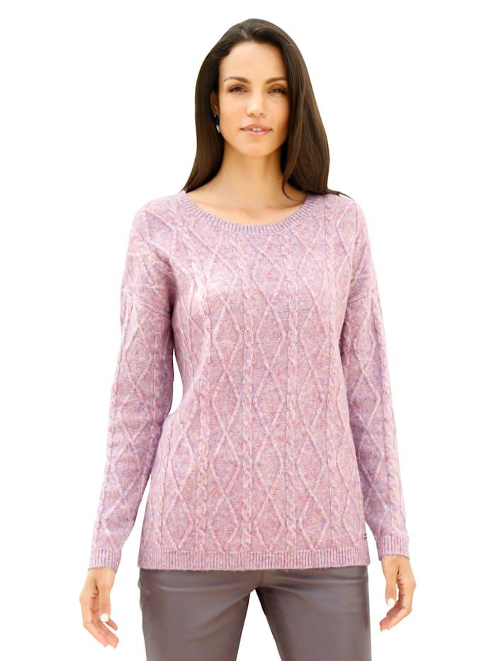 AMY VERMONT Pullover in flauschiger Qualität, Rosé