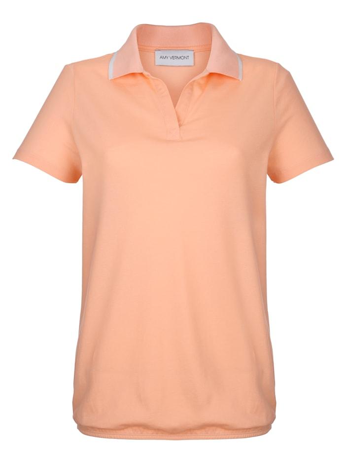 Poloshirt mit Gummizugsaum