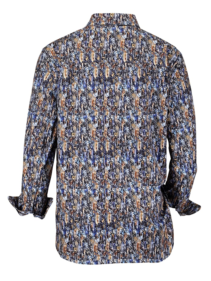 Overhemd met kraag met beleg van ribcord