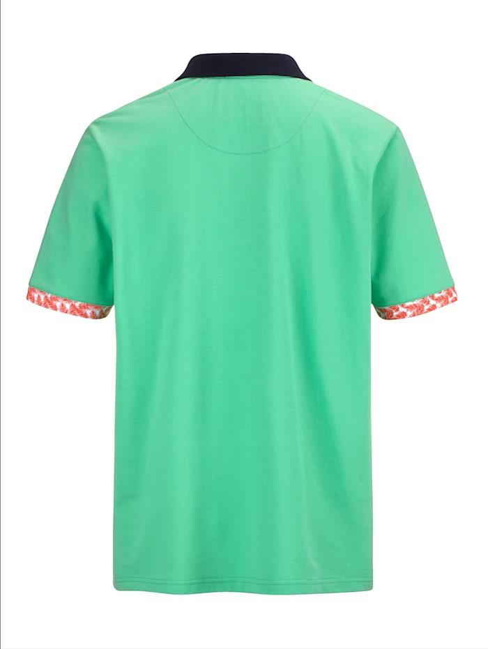 Poloshirt met modieus contrast