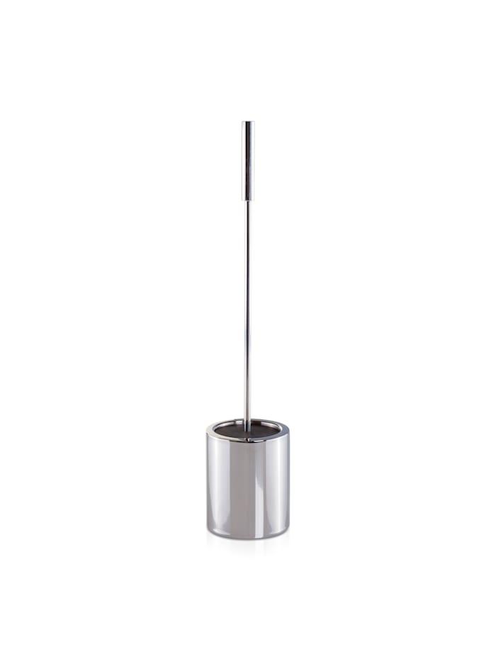 Möve Toilettenbürste Deco 10x10x49cm , Edelstahl, silver