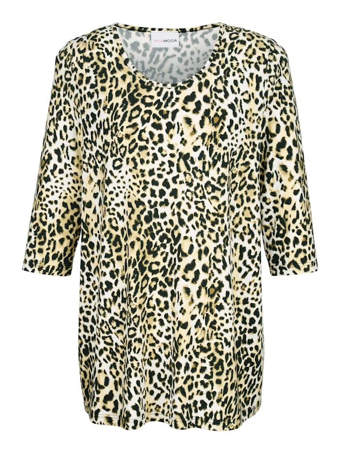 Topp med leopardmönster