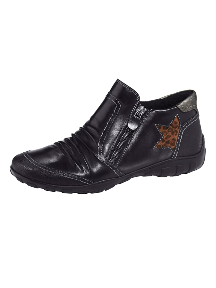 Naturläufer Ankle boots with a removable insole, Black