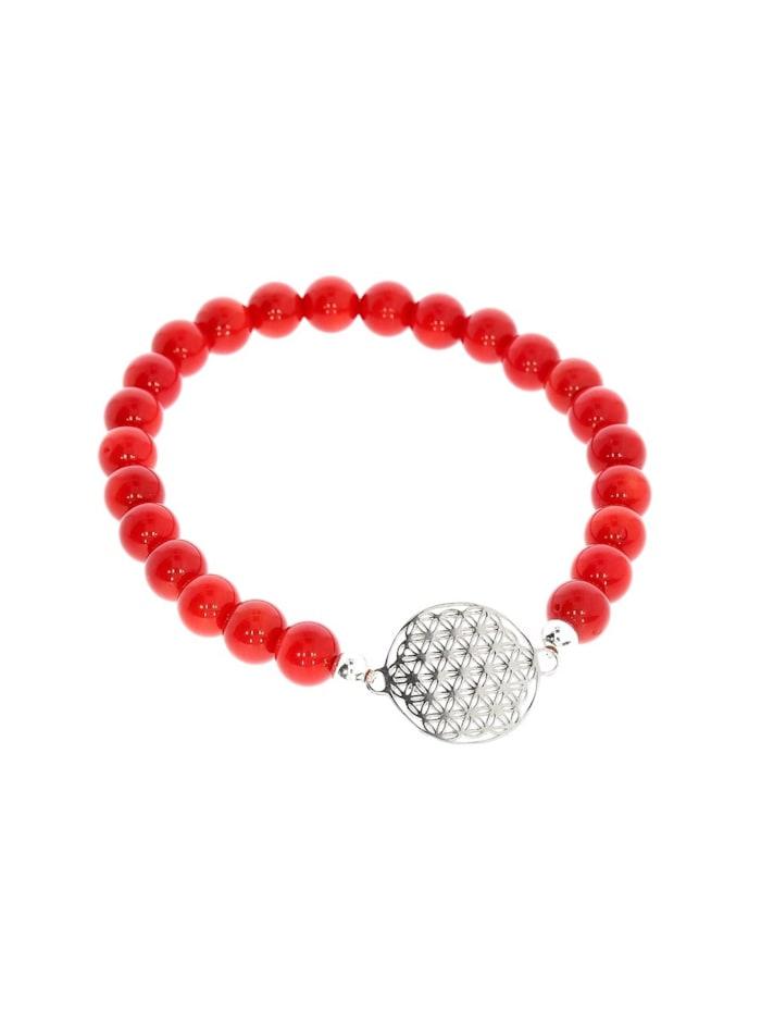 1001 Diamonds Armband 925 Silber Koralle, silber