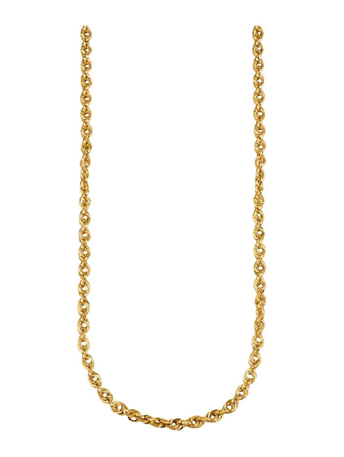 Diemer Gold Chaîne maille cordon en or jaune 585, Coloris or jaune