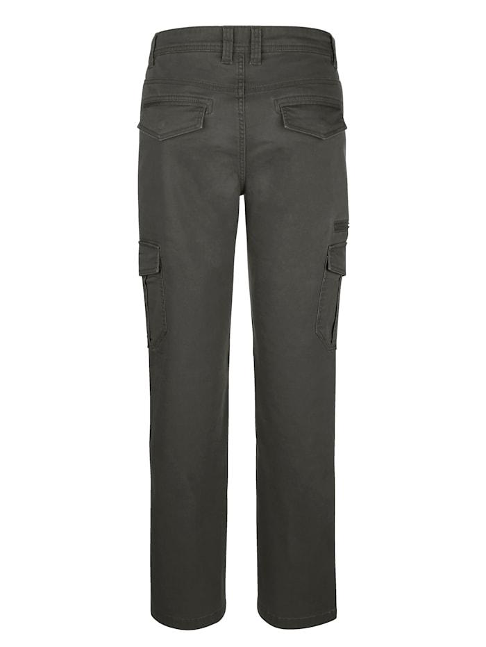 Pantalon cargo en matière stretch