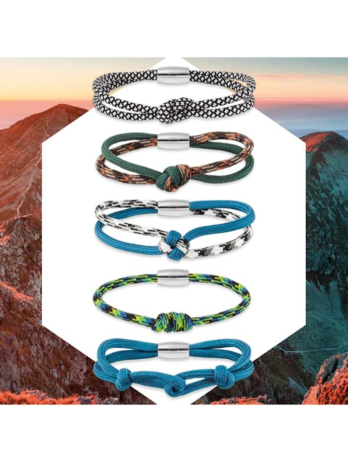 Armband 925/- Sterling Silber ohne Stein 21cm Mehrfarbig
