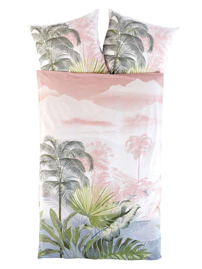 Webschatz Renforcé posteľná bielizeň Florentibe, zelená/prírodná