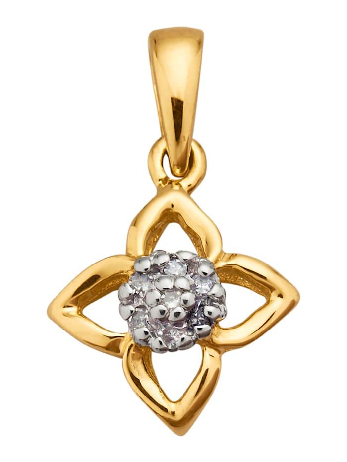 AMY VERMONT Pendentif avec diamants, Coloris or jaune