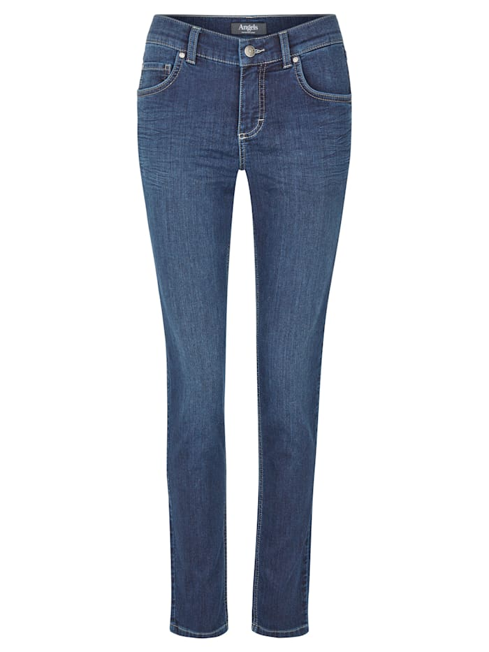 Angels Jeans 'Skinny' in Coloured Dneim, night blue used