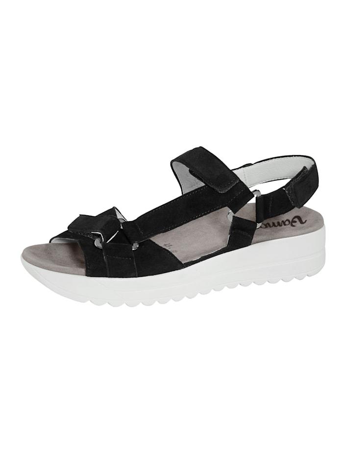 Vamos Sandale mit Luftpolsterlaufsohle, Dunkelblau