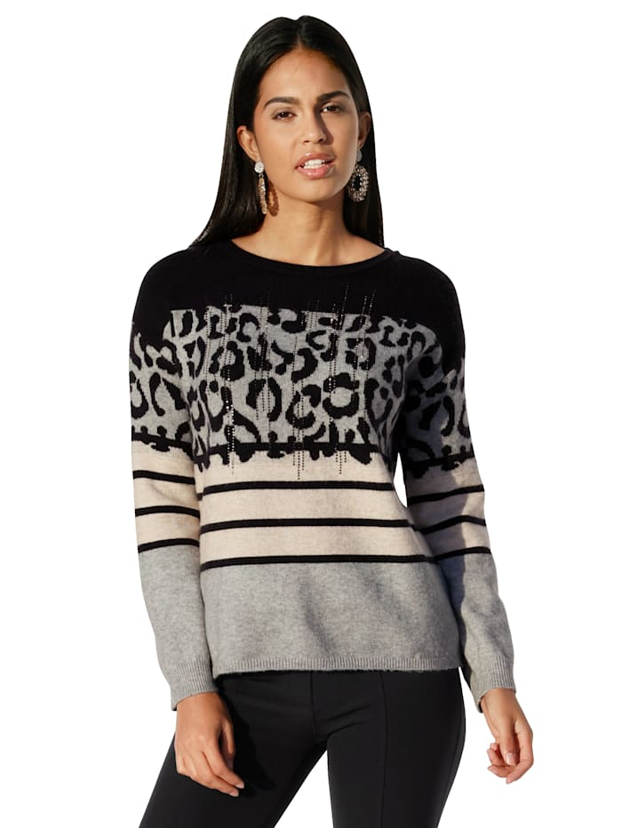 Betty Barclay Pullover mit Mustermix, Grau
