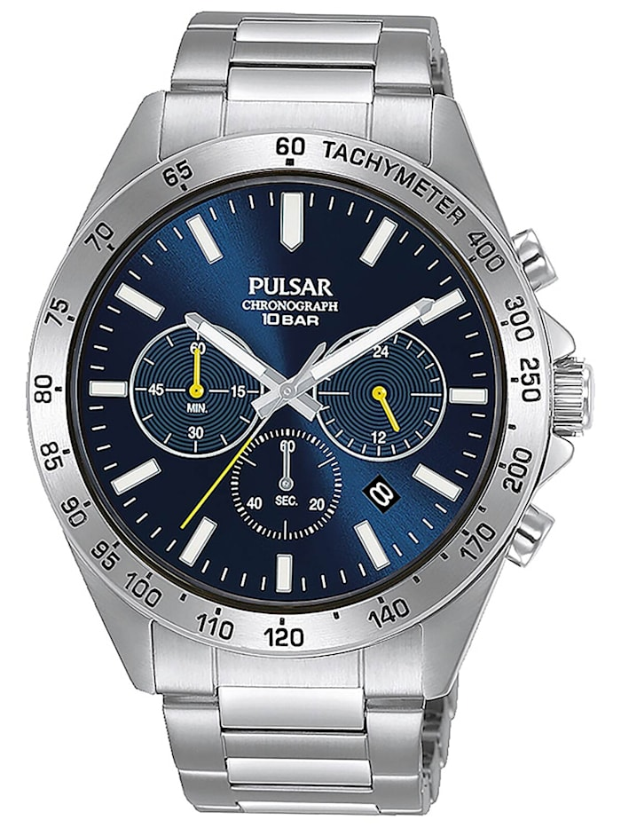 Pulsar Sport Herren-Armbanduhr Chronograph Blau, Blau