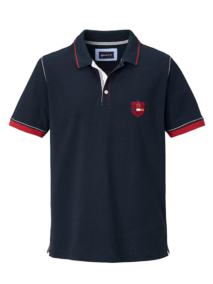 Poloshirt met hoogwaardige contrasterende details