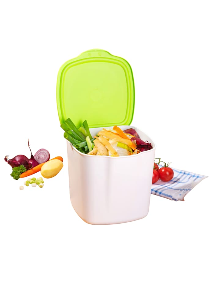 2in1 Bio-Mülleimer, weiß/grün