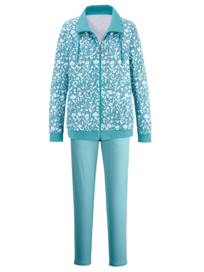 Harmony Športové oblečenie so šnúrkou v golieri, jadeit/ecru