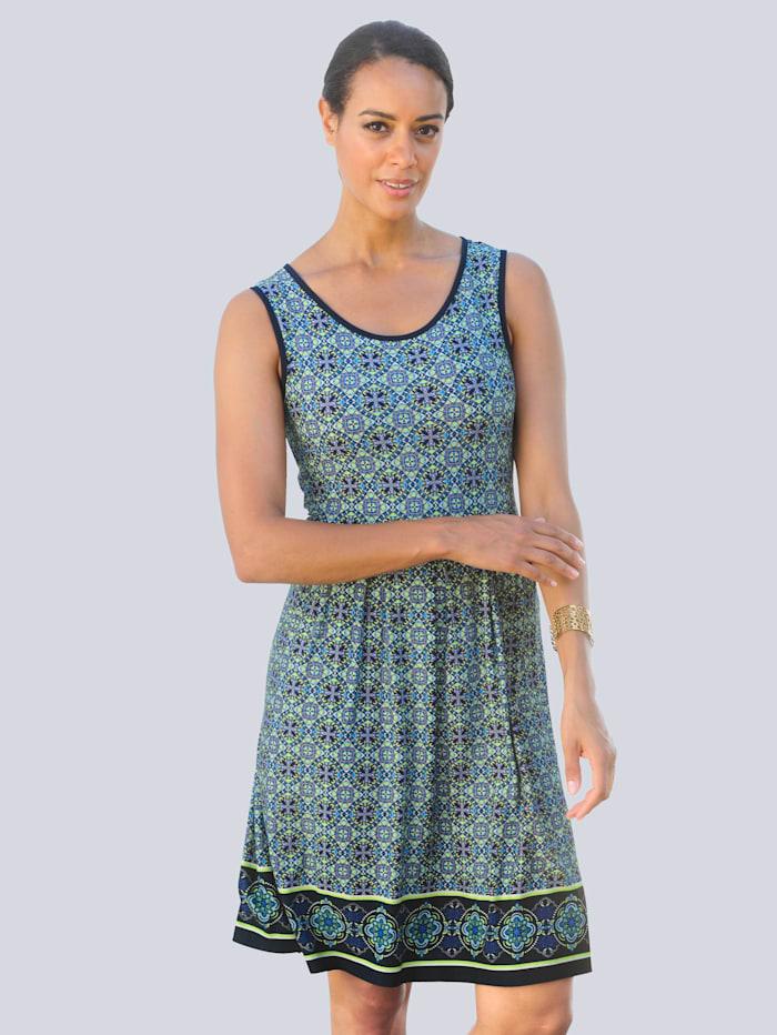 Alba Moda Strandkleid im Ornamentdruck, Blau