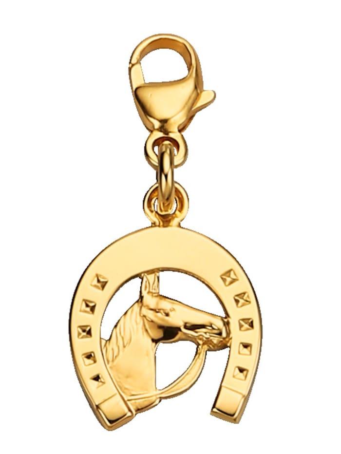 Bedel Hoefijzer met paardenhoofd, Geelgoudkleur