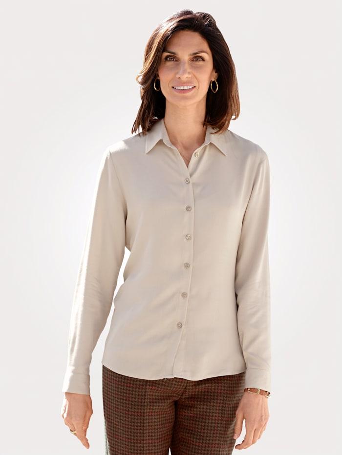 MONA Bluse aus reiner Viskose, Beige