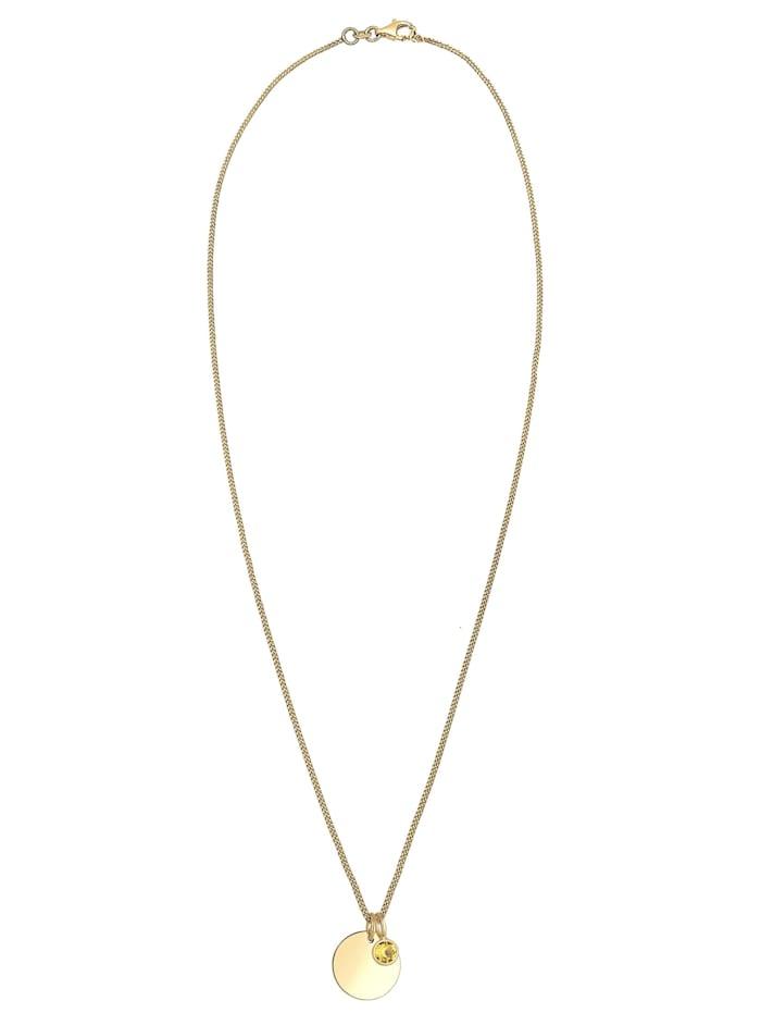 Halskette Geburtsstein Farbe Kristalle 925 Silber