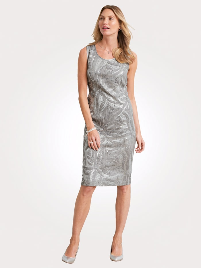 Dress with embroidery and sequins