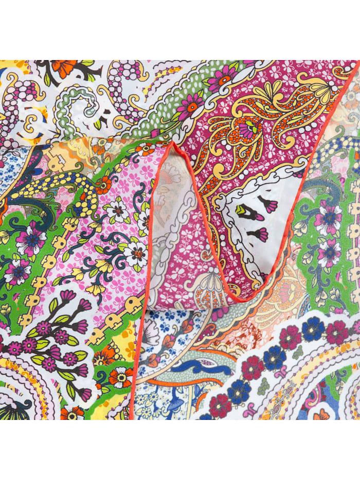 Großes Seidentuch mit exklusivem Paisley-Print