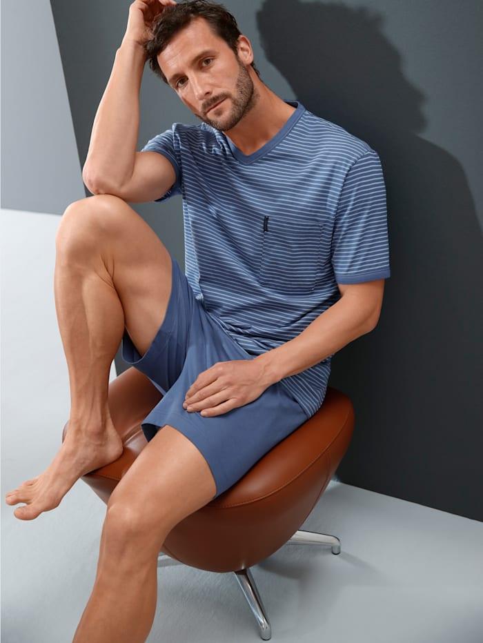 Ammann Shorty mit garngefärbten Streifen, hellblau