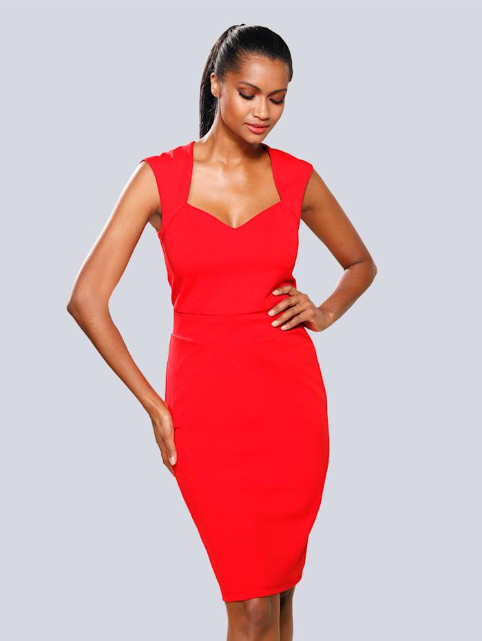 Alba Moda Kleid in femininer Silhouette, Rot