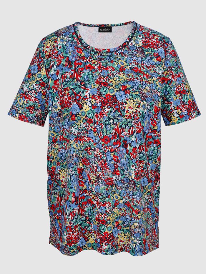 Shirt mit Häkelspitze vorne am Ausschnitt