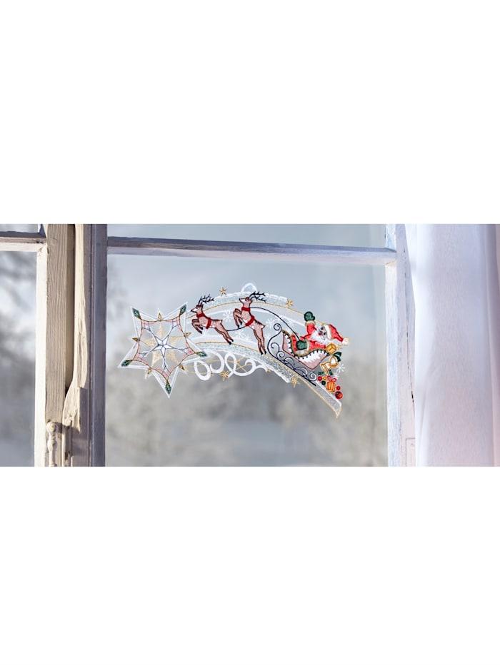 Stickereien & Textilien Fönsterbild, rensläde, flerfärgad