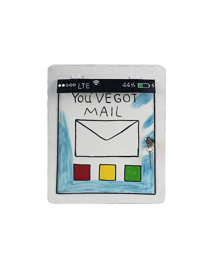 HTI-Living Briefkasten Tablet, Weiß