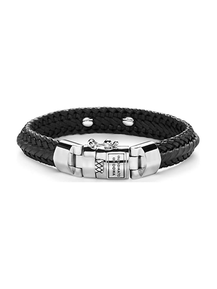 Buddha to Buddha Buddha to Buddha Unisex-Armband 925er Silber, schwarz