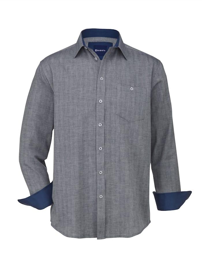 Babista Premium Overhemd met kasjmier, Marine