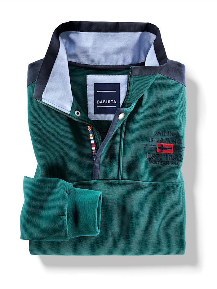 Sweatshirt mit aufwändigem Kragen