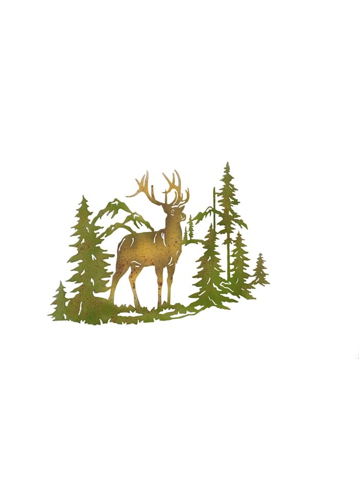 Möbel-Direkt-Online Wanddekoration Hirsch, grün