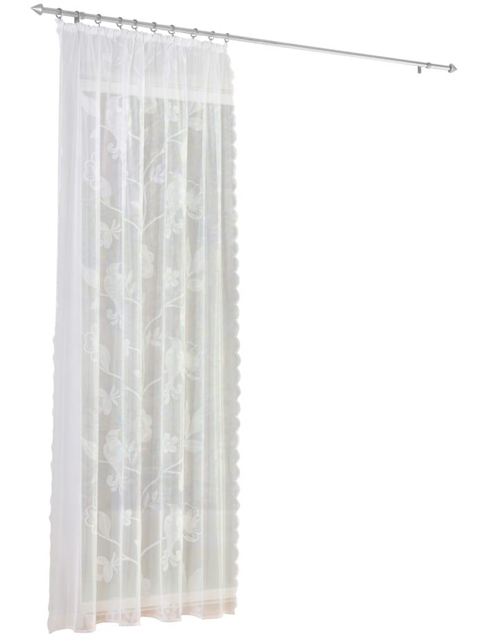 Webschatz Sidegardiner i 2 deler, hvit