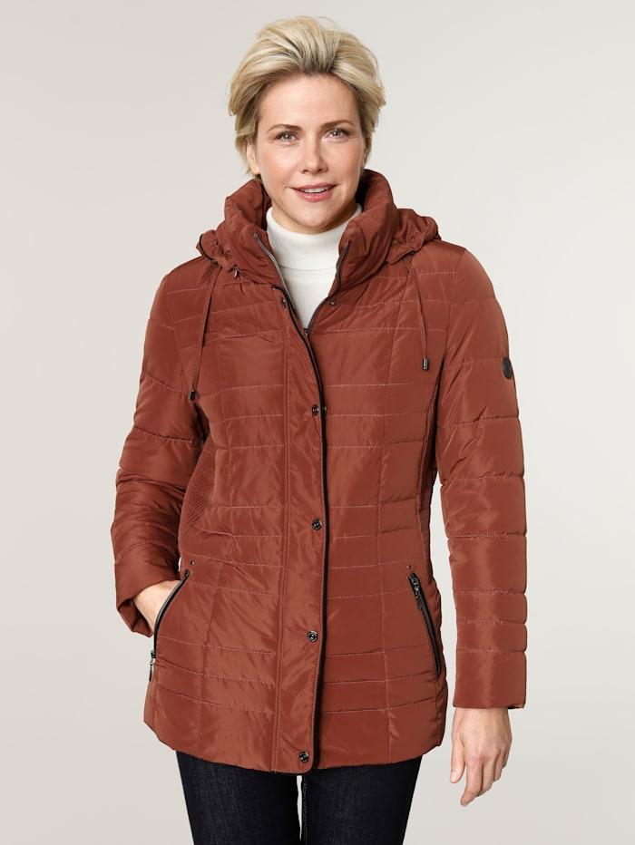 Barbara Lebek Quilted jacket in a classic design, Burnt Orange