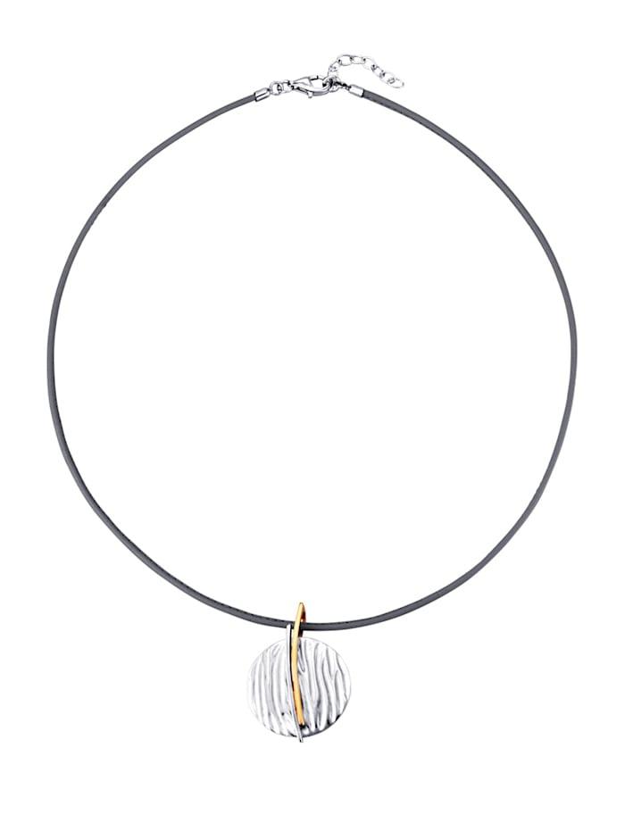 Yvette Ries Hanger met ketting, Zilverkleur