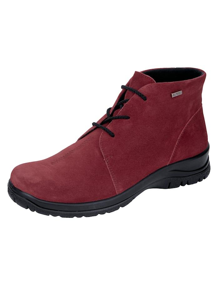 Naturläufer Schnürstiefelette mit wasser- sowie windabweisender Tex-Ausstattung, Rot