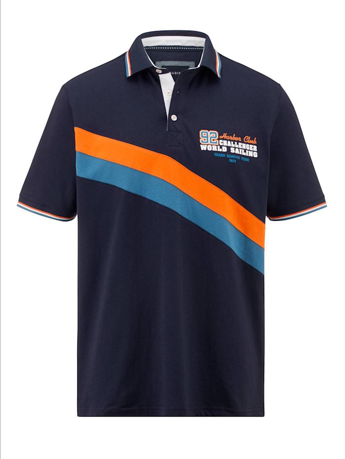 BABISTA Poloshirt met opvallende contrasten, Marine/Oranje