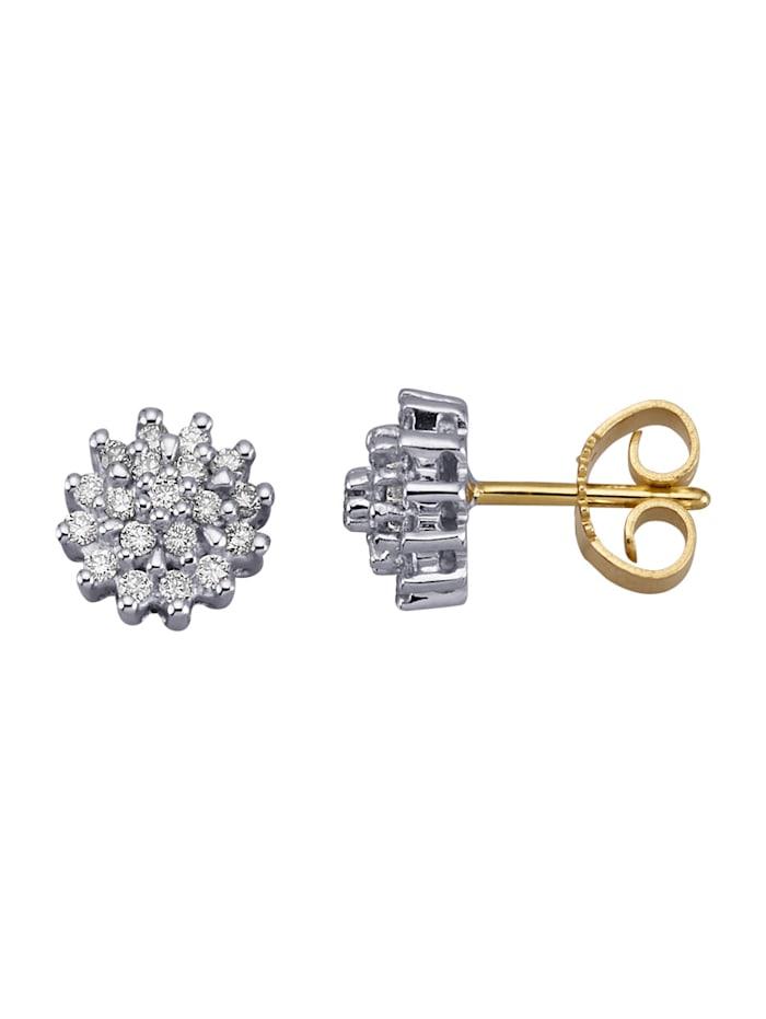 Diemer Diamant Ohrstecker mit 38 Brillanten, Weiß