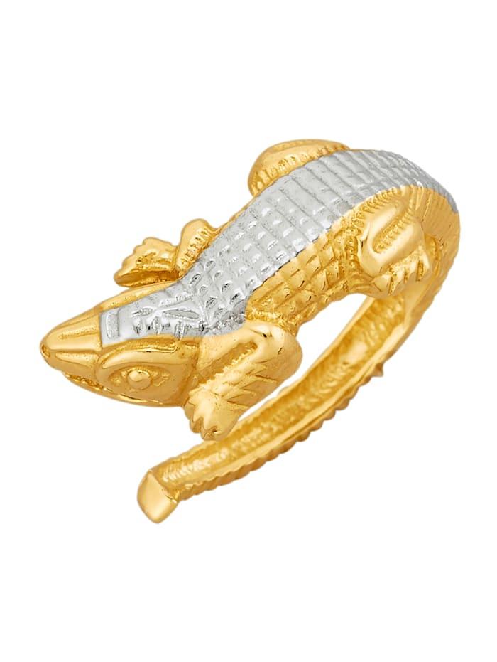 Ring Krokodil 9 kt., Geelgoudkleur