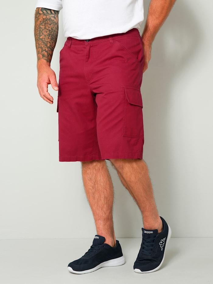 Men Plus Cargo Bermuda Regular Fit, Rot