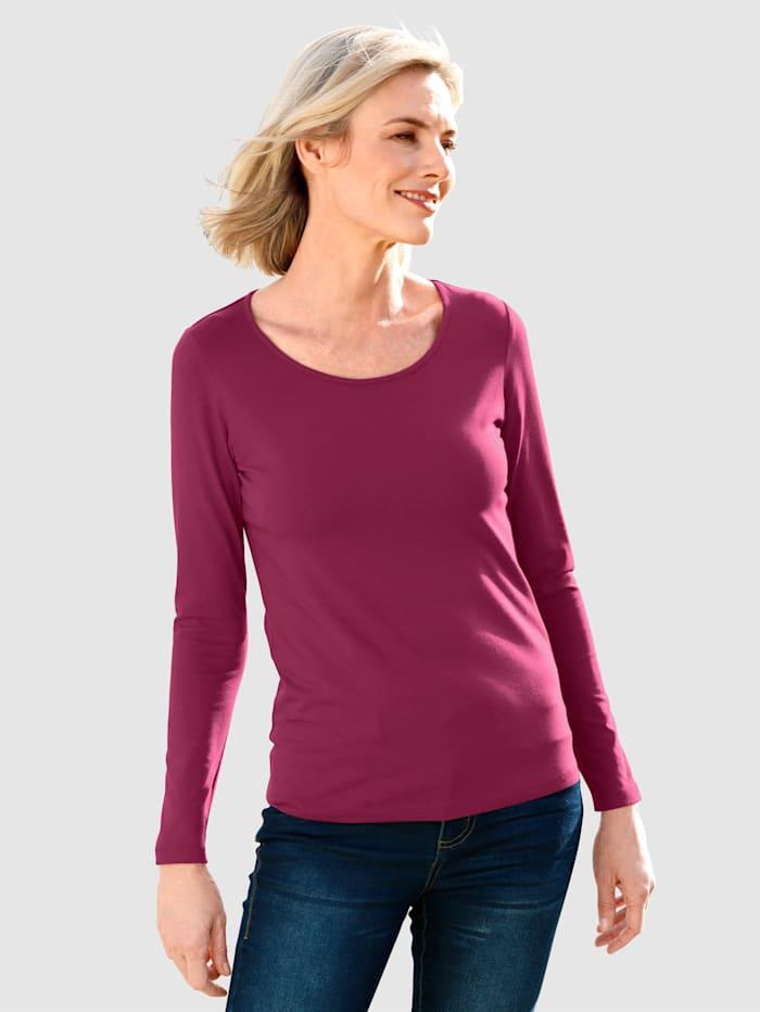 Dress In Shirt mit hohem Baumwollanteil, Fuchsia