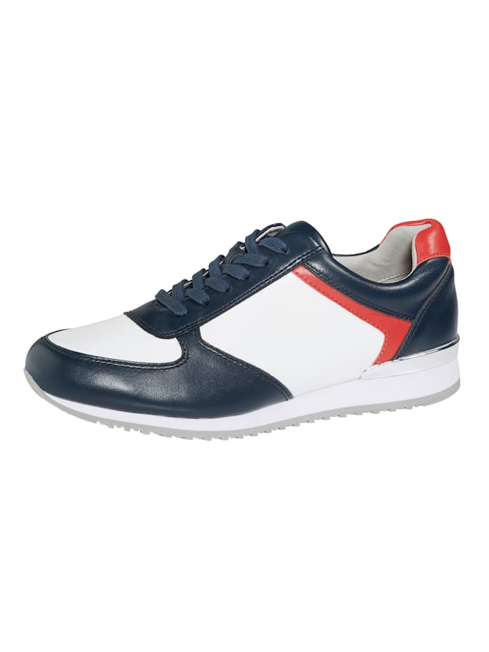 MONA Lace-up shoes, White/Blue/Red